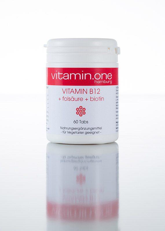 Vitamin B12 + Folsäure + Biotin 1000mg