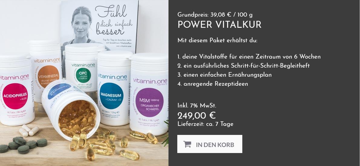 vitamin.one - Power Vitalkur!